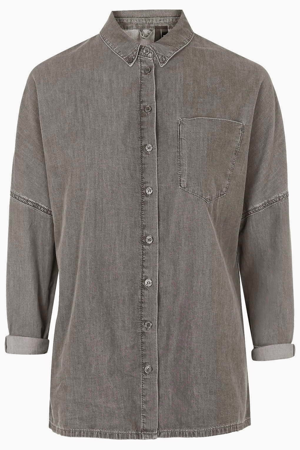 grey denim shirt ladies,