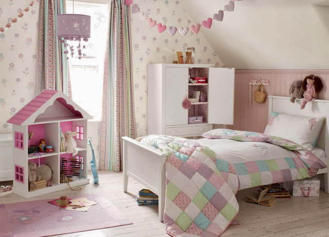 Reforma dormitorio Laura Ashley infantil - inspiración