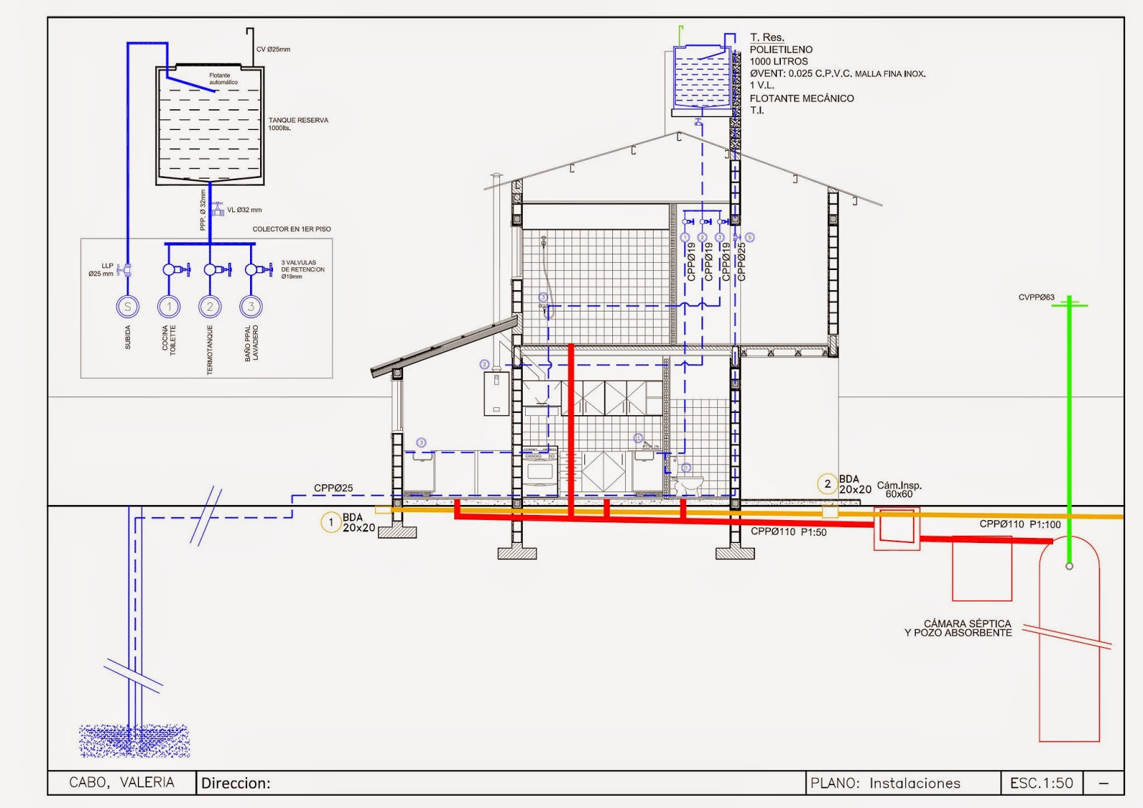 Detalles constructivos cad plano replanteo instalaciones for Detalles de una casa