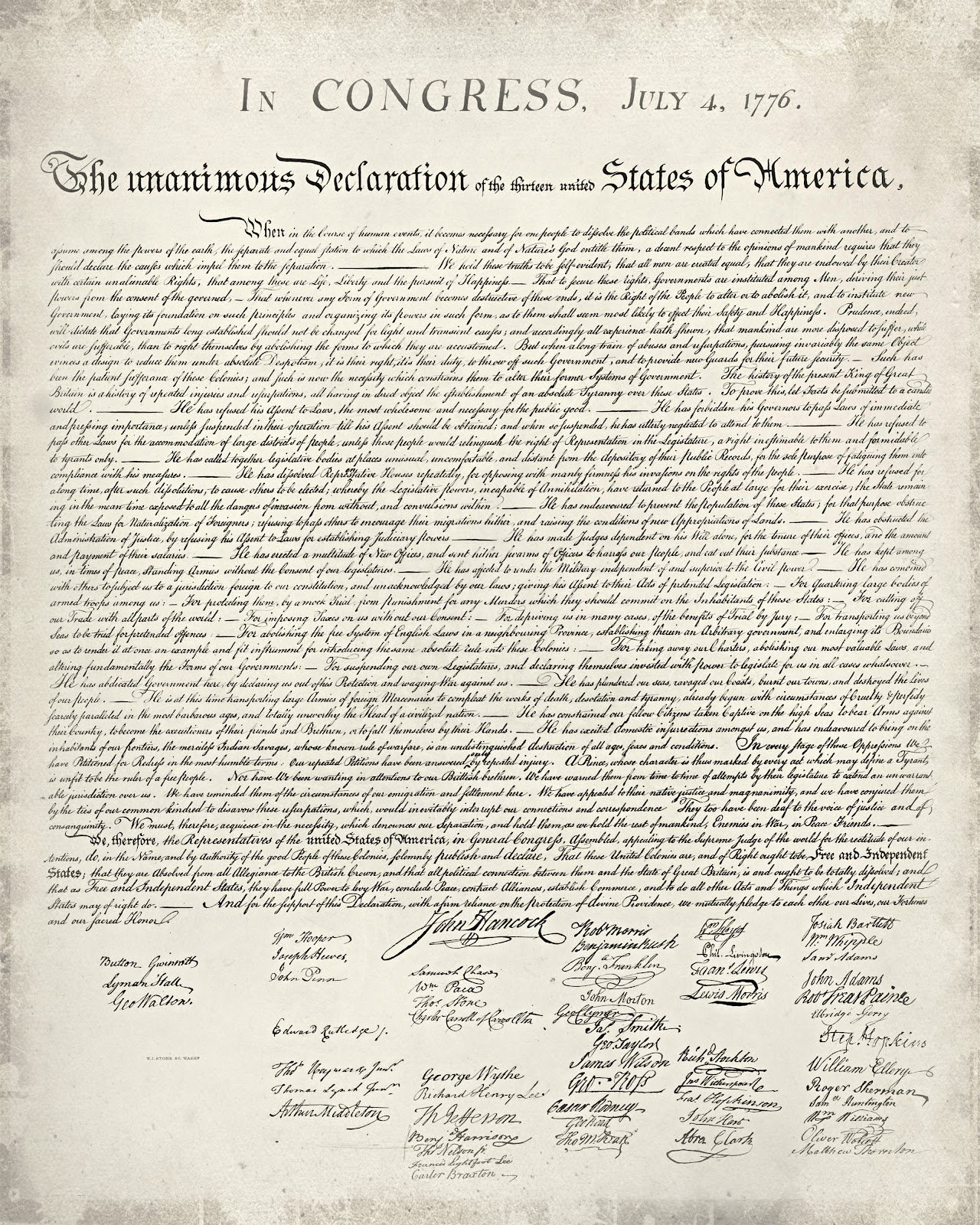 picture about Printable Declaration of Independence titled simply Adorable and Very simple: Free of charge Printable United Claims