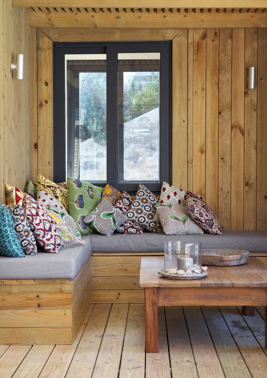 Safari Fusion blog | Cushion stack | An Australian inspired beach house in Plettenberg Bay, South Africa