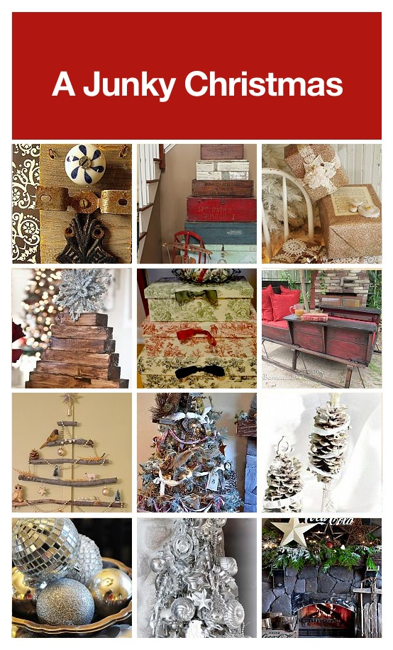 A Junky Christmas, a collection of curated junk Christmas decor, via HomeTalk