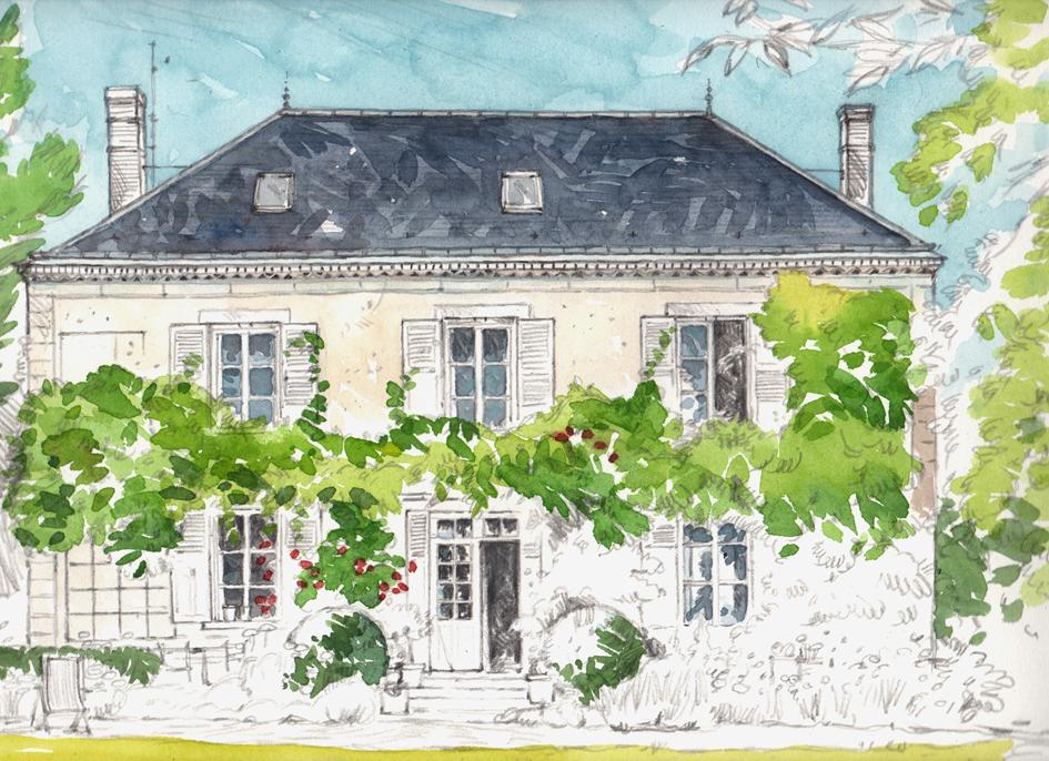 C line chollet aquarelles la maison en normandie for Construction maison de charme