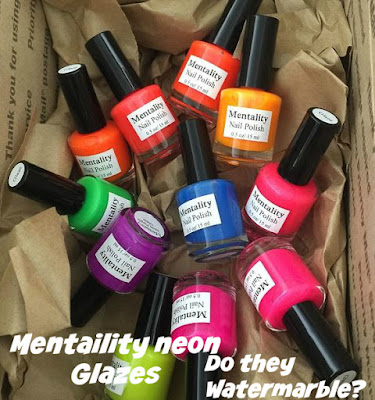 Mentality Neon Glazes. Do they Watermarble? Part 1