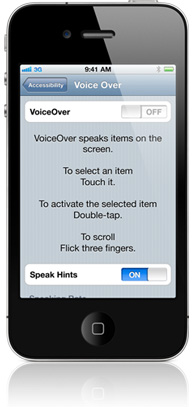 Desactiva el Voice Over Accesibility