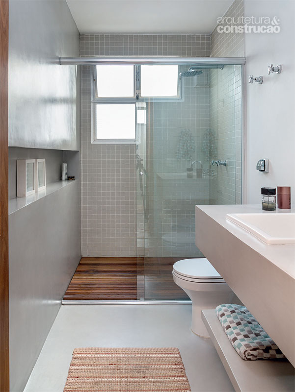 BANHEIROS PEQUENOS MODERNOS 4 ESTILOS + 25 FOTOS  Decor Alternativa -> Banheiro Pequeno Creme