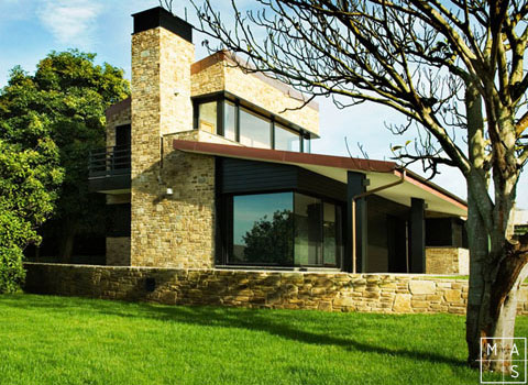 Modern Home Design With Natural Stone Walls