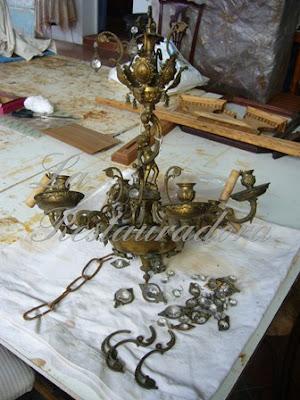 La restauradora mira como era restauraci n y reciclaje - Como limpiar cobre y bronce ...