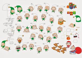 Desenho vetorizado - concepção dos personagens