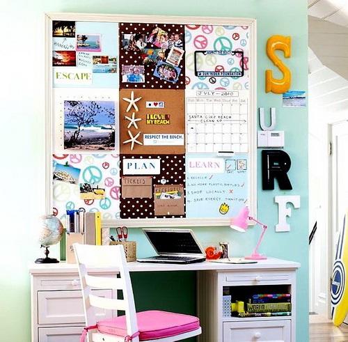 Decora y disena 17 ideas de cuarto de estudio para chicos - Habitacion estudio decoracion ...