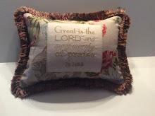 Ps. 145:3 - floral linen