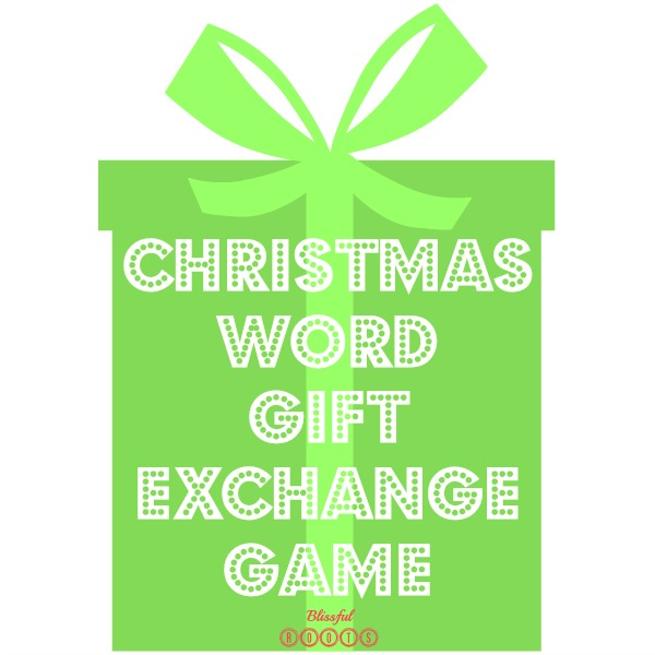 Christmas Word Gift Exchange Game from Blissful Roots