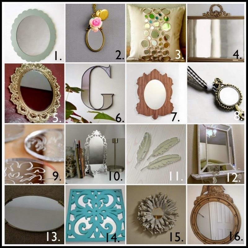 Dollar store crafter 16 mirror craft ideas for Dollar store mirror craft