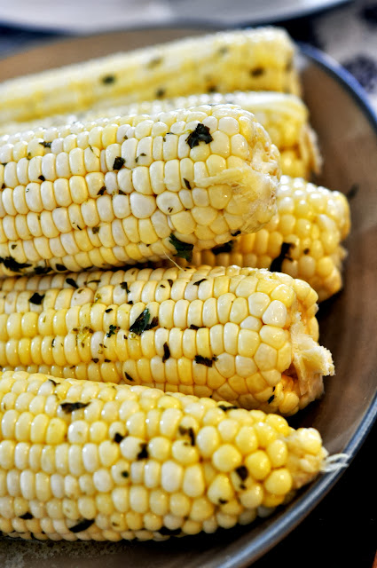 Roasted Corn on the Cob with Cilantro Lime Butter | Taste As You Go