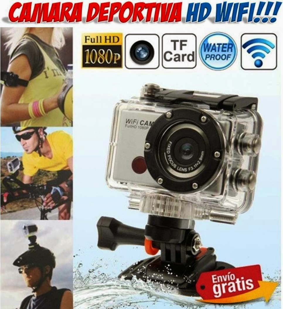 camara deportiva HD sumergible WIFI
