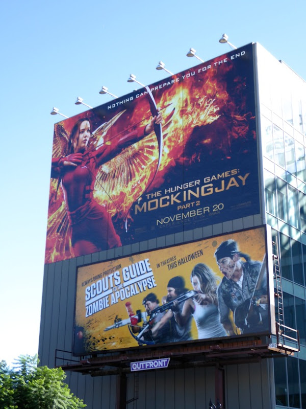 Mockingjay 2 Scouts Guide to the Zombie Apocalypse billboards