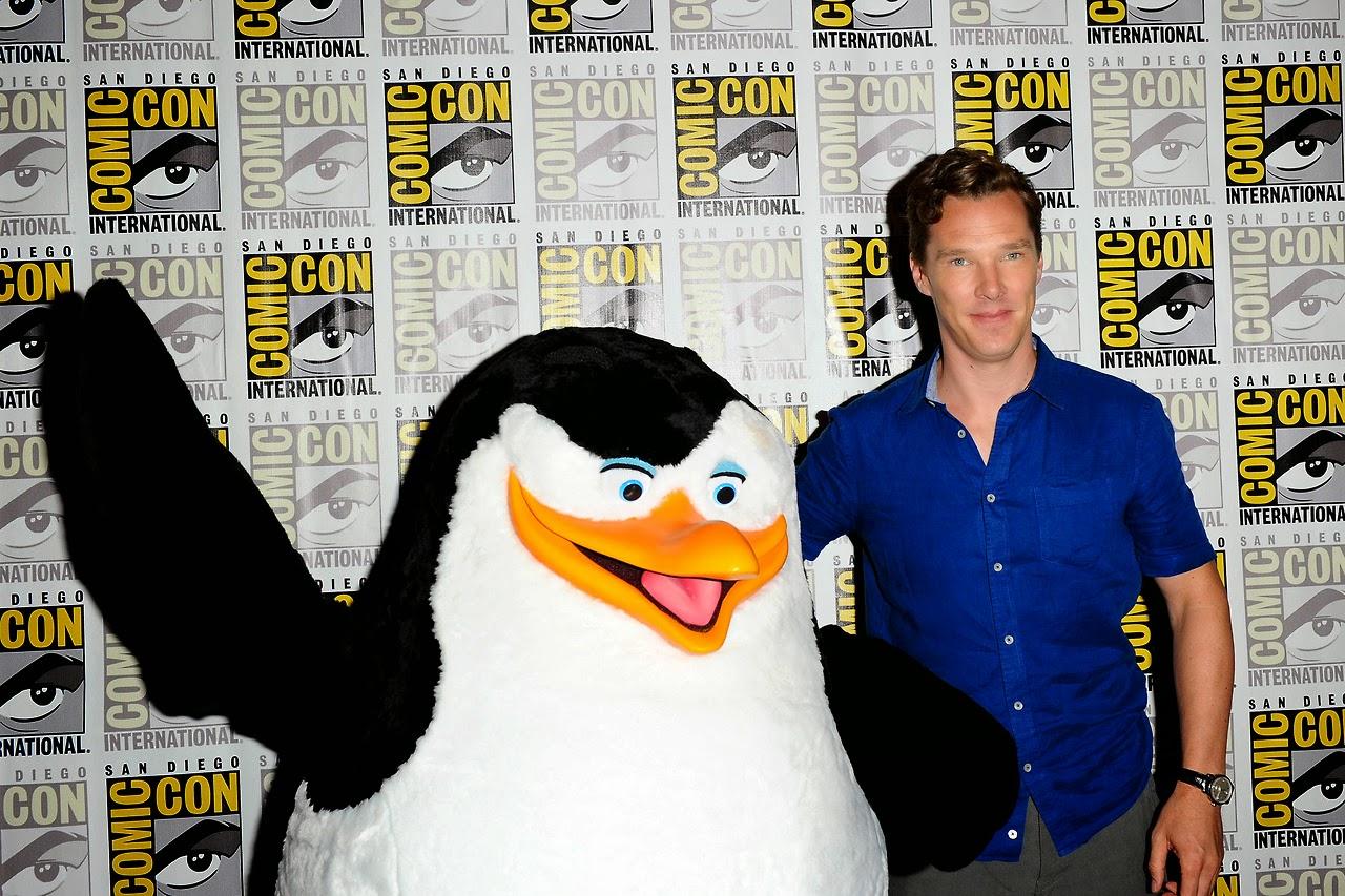benedict cumberbatch, dreamworks, comic con, pingüinos madagascar, doctor extraño, marvel, el zorro con gafas
