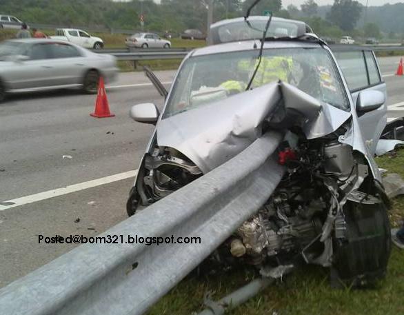 Ngeri! Kemalangan Perodua Viva