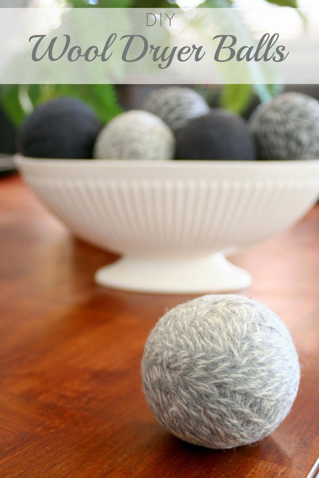 Wool Dryer Balls - easy to make and will cut the drying time of your laundry in half   jordanseasyentertaining.com