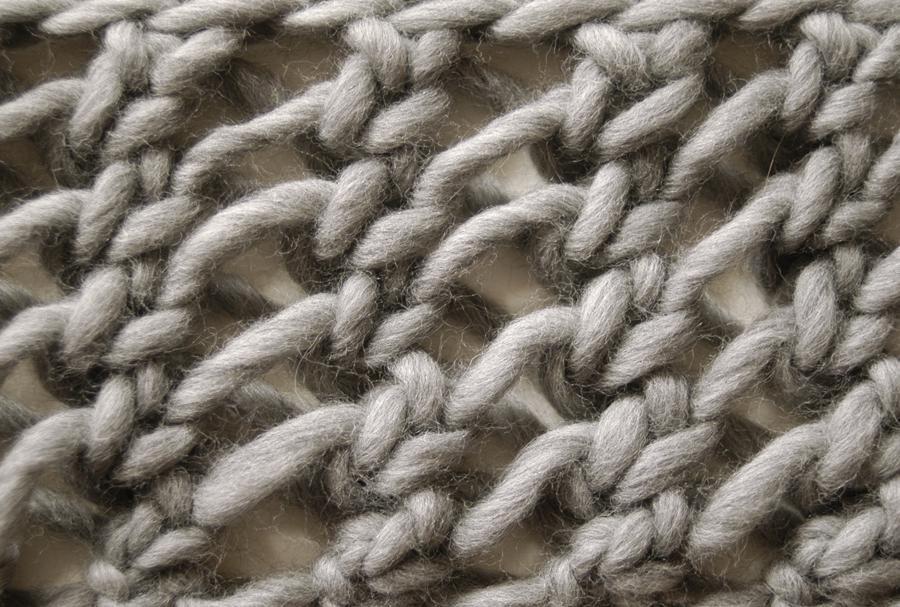 Knit 1 La The Misti Net Scarf