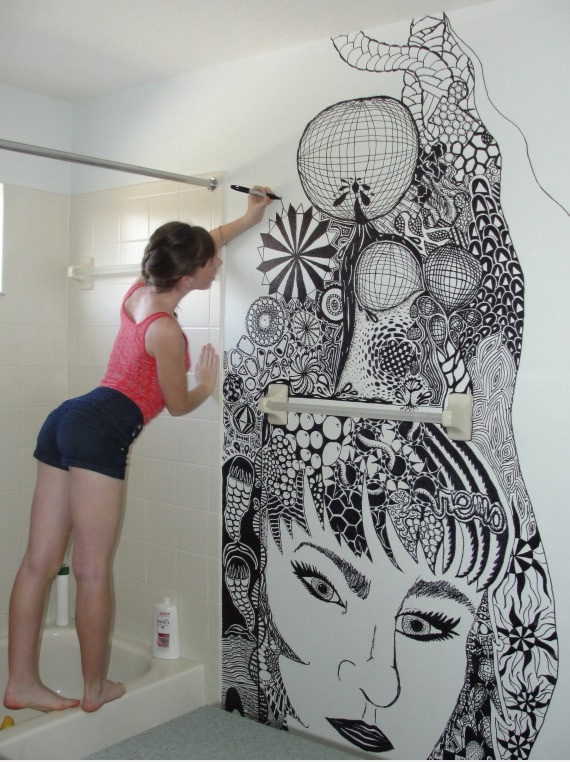 Mind-Blowing Wall Painting By a Girl in her Bathroom! - Ye Kya ...