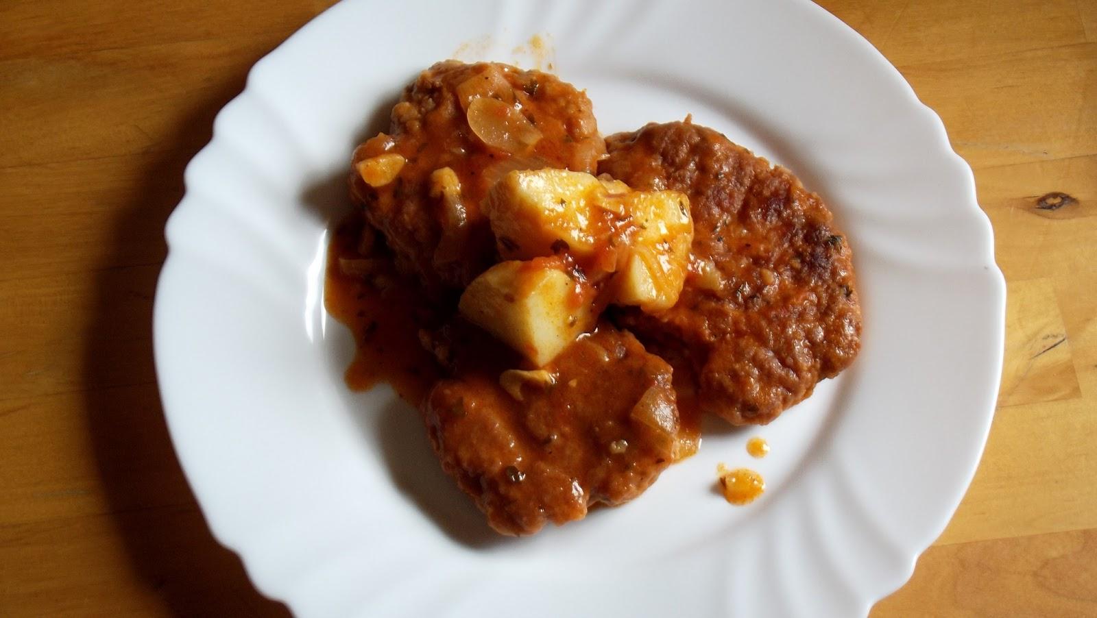 Filetes rusos en salsa de tomate hoy cocina la erika - Filetes de carne en salsa ...