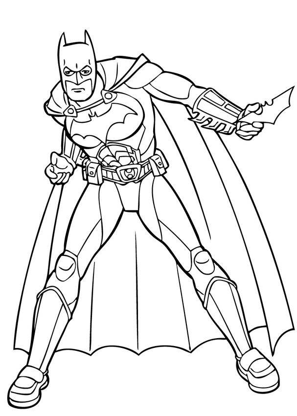Dibujos animados para colorear: Batman para colorear