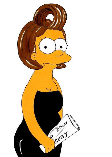 Suzy Menkes by Matt Groening