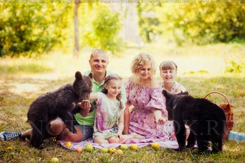 Фотосессия с медвежатами