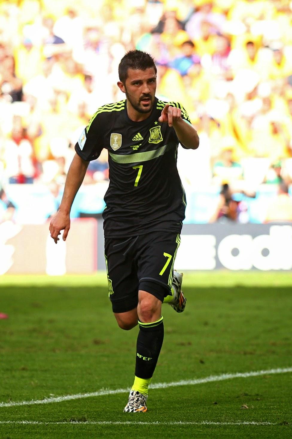 Last game of David Villa for Spain