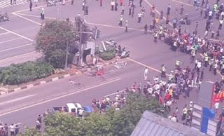 Ledakan Bom di Pos Polisi Sarinah Jakarta