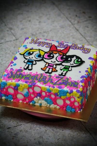 Rizq Cakes Powerpuff Girl Go Go Girl Power