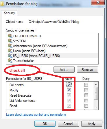 IIS_IUSRS permissions