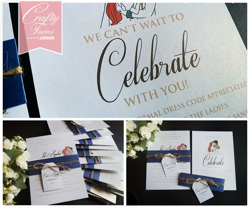 navy blue destination wedding card, flat invitation card