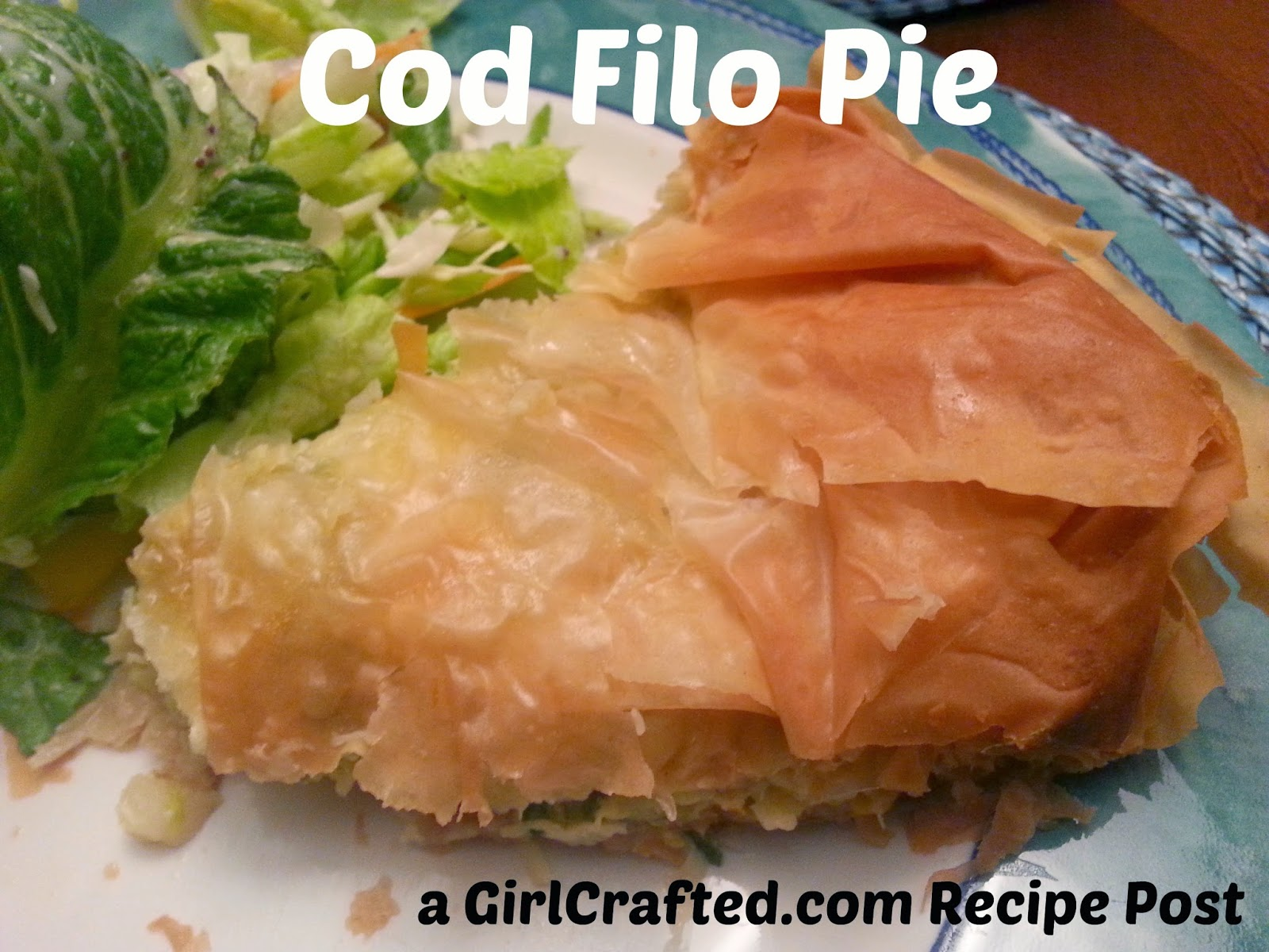 Girl crafted fish and filo pie jamie oliver recipe for Fish pie jamie oliver