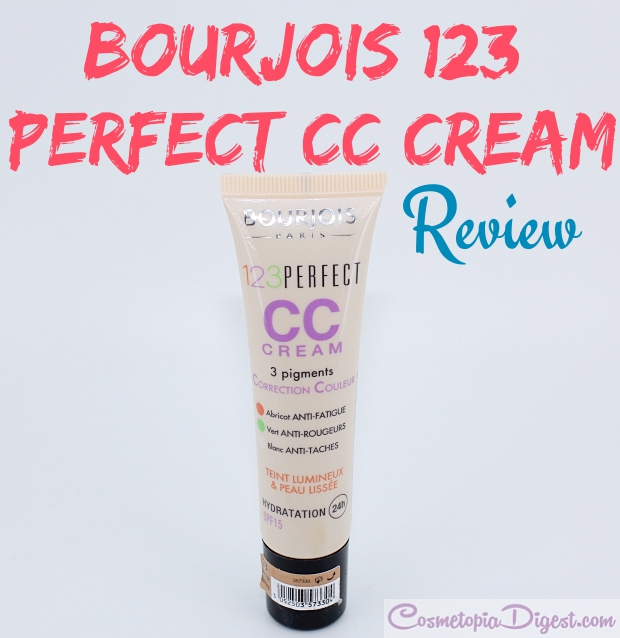 bourjois 123 perfect cc cream review swatch fotd cosmetopia digest bloglovin. Black Bedroom Furniture Sets. Home Design Ideas