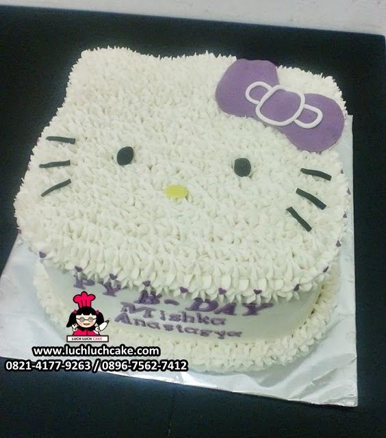 Kue Tart Ulang Tahun Hello Kitty 3D Kepala Hello Kitty