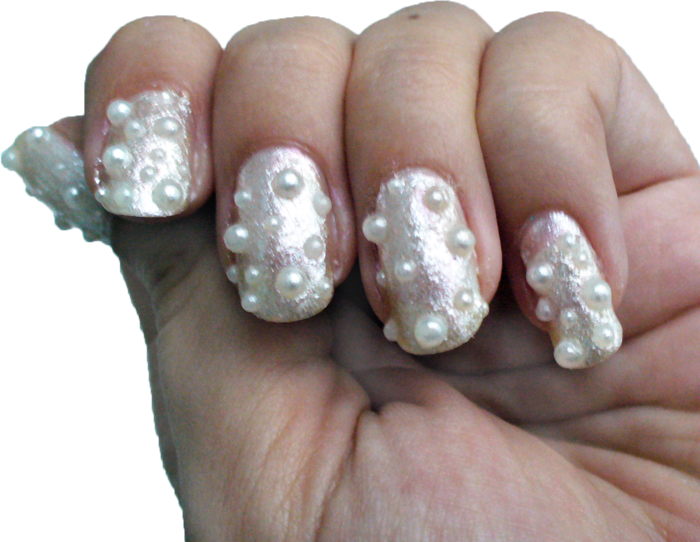 How To: 3D Pearl Nails - A Sparkly Life for Me