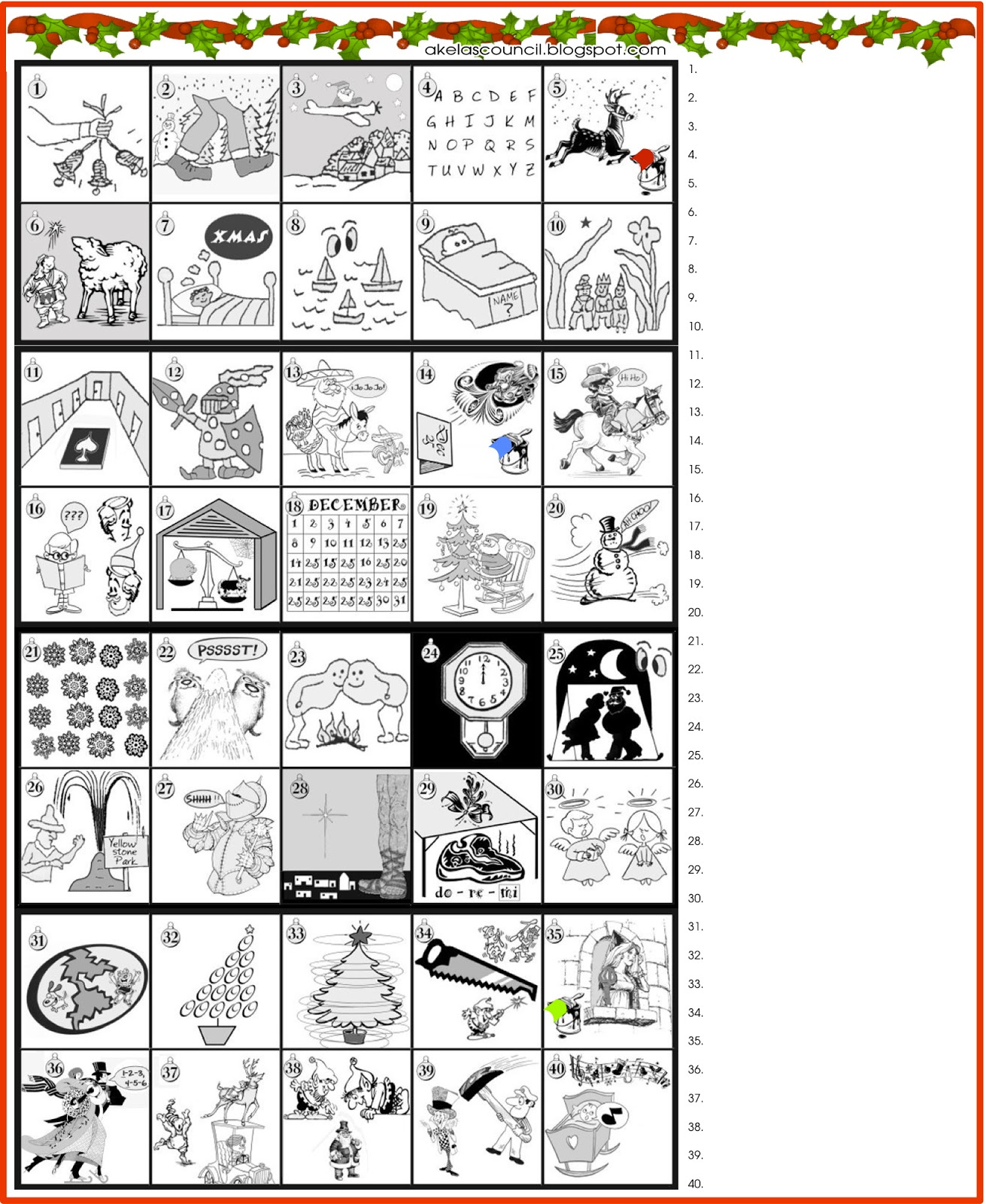 We have more word puzzles, and other kinds of printable puzzles on our