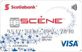 Scotiabank Scene VISA credit card (front)
