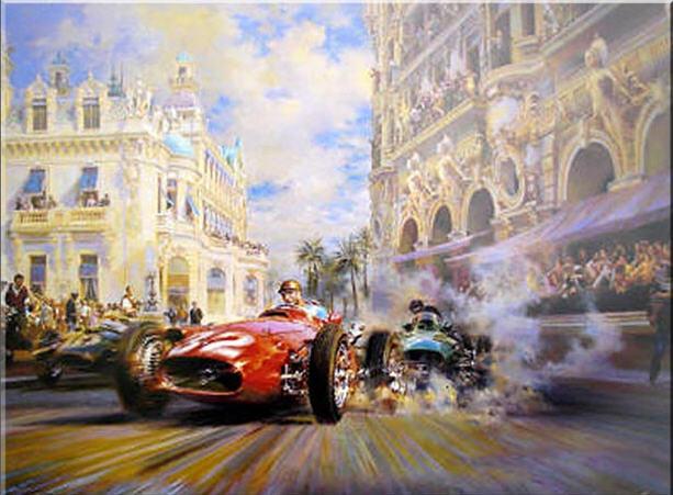 dibujo F1 Vintage