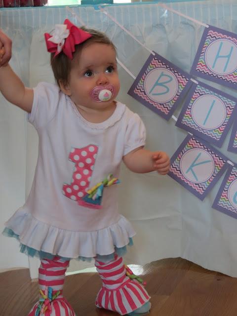 rainbow chevron birthday