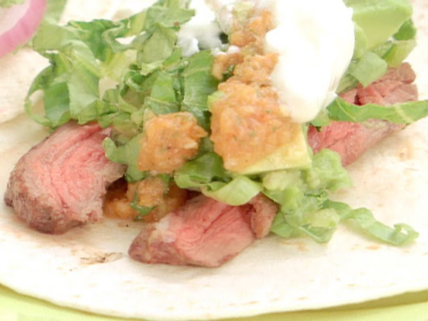 Bobby Flay Recipes: Skirt Steak Tacos with Roasted Tomato Salsa