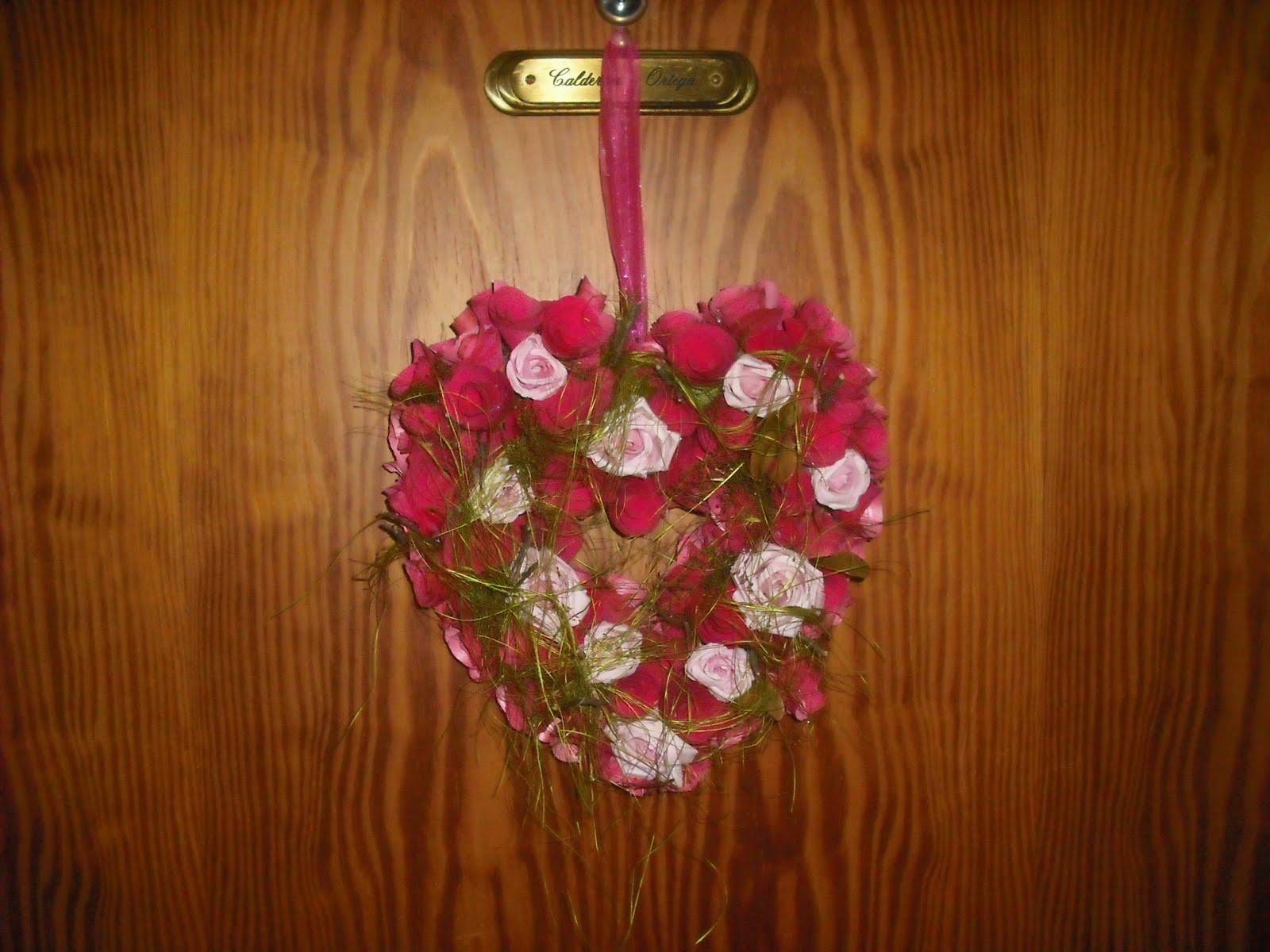 Abanic arte corona navide a para la puerta - Coronas navidenas para puertas ...