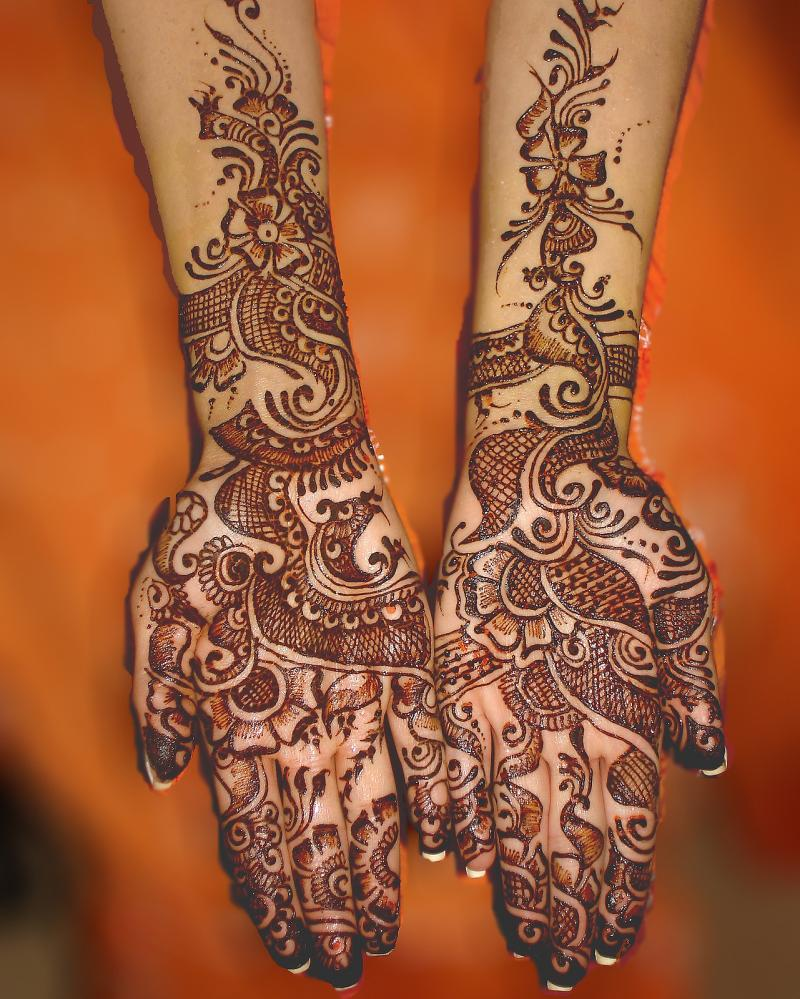 Photo Shoot Beautiful Pakistani Eid Hand Mehndi Designs 2012