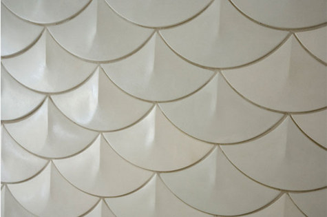 fish scale wall tile