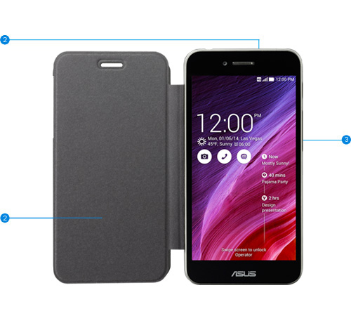 ASUS PadFone S Accessories - Station TriCover, Side Flip Cover, Station Dock screenshot 2