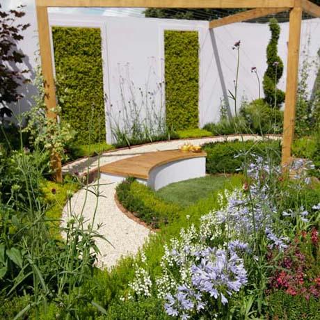 Arte y jardiner a el jard n minimalista urbano ejemplo for Jardines modernos con piedras