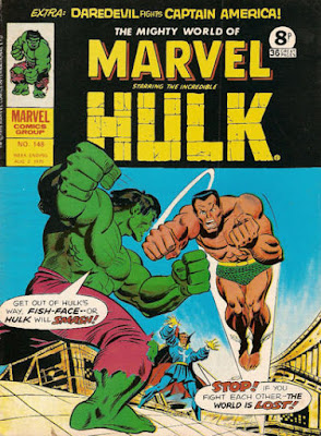 Mighty World of Marvel #148, Hulk vs Namor