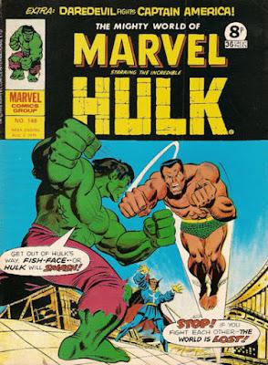Mighty World of Marvel #148, Hulk vs Namor